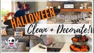 CLEAN + DECORATE WITH ME // HALLOWEEN HOUSE TOUR 2019 // HALLOWEEN DECOR IDEAS