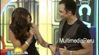 "Nicole Pillman le canta ""Angel"" a Jon Secada - Bienvenida la Tarde"
