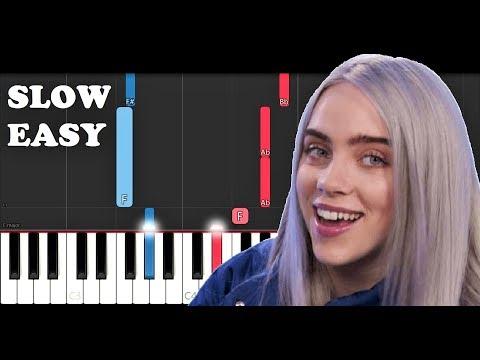 Billie Eilish - I Love You (SLOW EASY PIANO TUTORIAL)