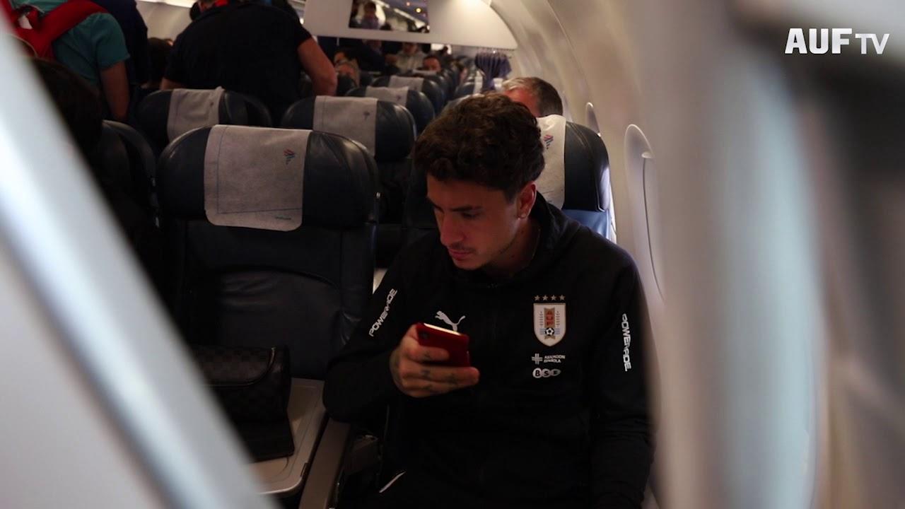 Uruguay viajó a Lima para el segundo partido ante Perú (13/10/19)