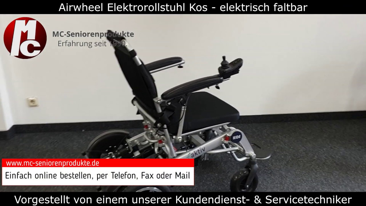 Airwheel Elektrorollstuhl Kos (6 km/h) - elektrisch faltbar