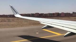 Boeing 737-800 (EI-GDG) Ryanair take off from Marrakech