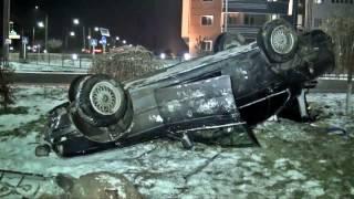 Водитель BMW устроил гонки с преследованием и попал в ДТП