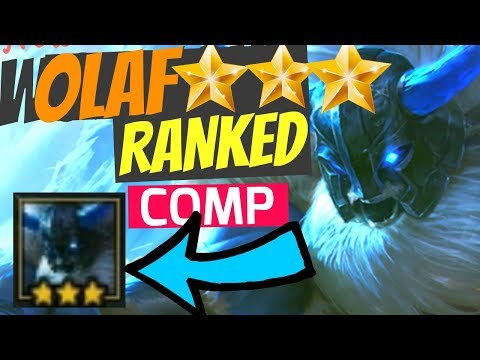 OLAF ⭐⭐⭐ RANKED COMP - TFT Teamfight Tactics SO CLOSE Strategy Best Build Guide Set 2 9.23