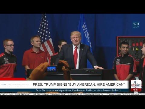 President Trump Speaks in Wisconsin; Signs