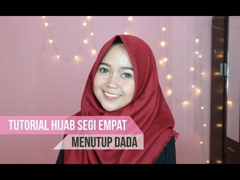 Tutorial Dan Tips Pakai Hijab Segiempat Organza Untuk Ke Pesta Agar