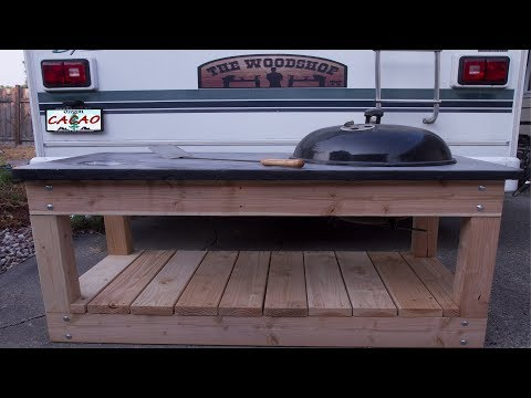 BBQ Cart / Station  With A Concrete Top