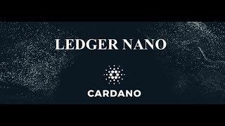 CARDANO ON LEDGER NANO SOON !