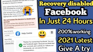 New 2021_Recover/open any disbled Facebook account just 24 Hours_Facebook account disabled...