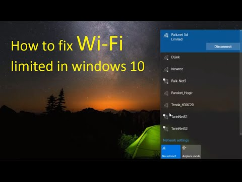 Video how to fix wifi limited in windows 10
