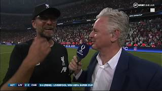 """ADRIAN!!!!!!!!"" Jurgen Klopp goes full Rocky Balboa after UEFA Super Cup win"