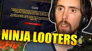 Heated Guild Negotiations - Asmongold Tries To Fix The Ninja-Looting Fiasco Via DUELING