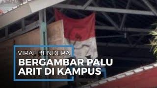 Viral Foto Bendera Merah Putih Bergambar Palu Arit di Unhas Makassar, Ini Kata Pihak Kampus & Polisi