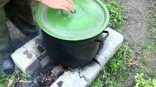 Самодельная коптильня для мяса.Сделана своими руками, горячее домашнее копчение курицы,сала