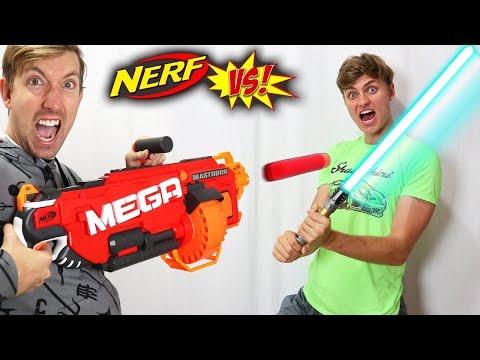 NERF GUN VS NINJA WEAPONS!!