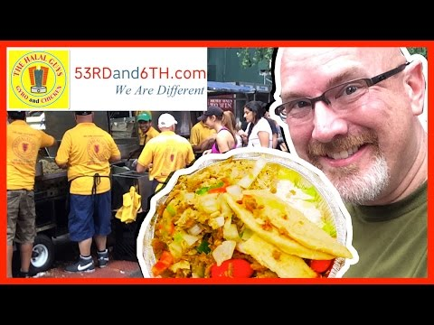 The Halal Guys ♥ NYC Street Food ♥ Review Lamb & Chicken Platter