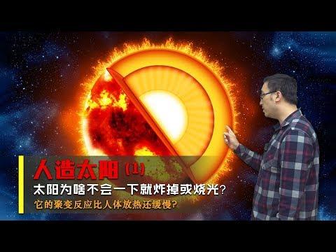 太陽為啥不會瞬間就炸掉?核聚變比人體放熱還緩慢嗎?李永樂老師講人造太陽(1)