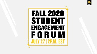 UCF Fall 2020 Student Engagement Forum