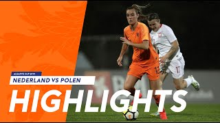 Highlights: OranjeLeeuwinnen - Polen (04/03/2019) Algarve Cup