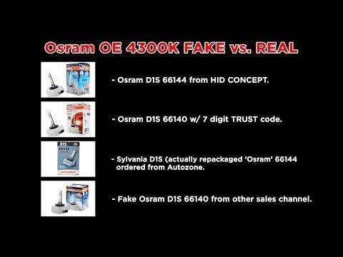 OSRAM (SYLVANIA) OEM D1S BULB - IN-Depth comparison on FAKE vs. REAL