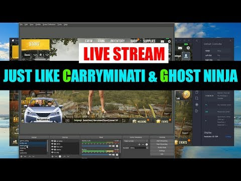 How to setup OBS live stream (just like carryminati & Ghostninja)