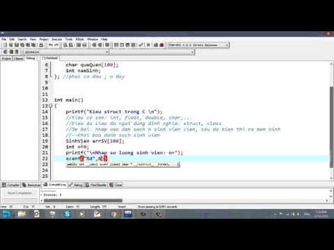 Video 27 - Kiểu Struct trong C