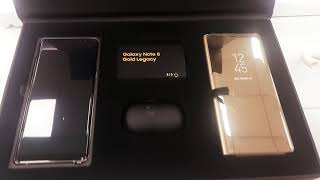 Samsung galaxy Note 8 limited edition gold