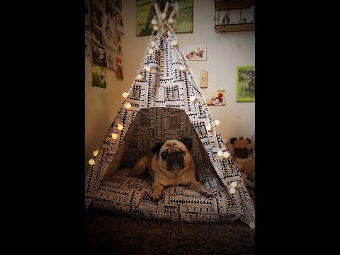 DIY Tipi für Hunden & Katzen nähen