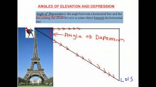 Angles Of Elevation And Depression