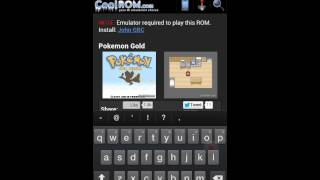 How to have pokemon gold on android
