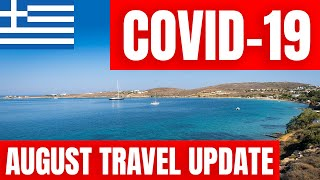 Greece COVID-19 News Travel Update 16th August 2020