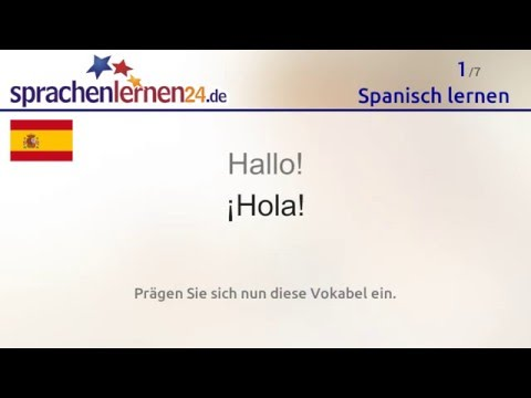 Spanisch lernen (kostenloses Sprachkurs-Video)