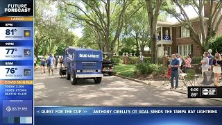 Pep rally, mini-parade held for fans before Game One of the Stanley Cup Final