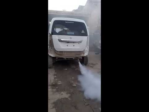 smoke from exhaust pipe