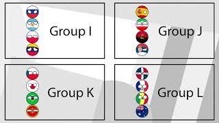 Amazing Basketball Countryballs Marble Race   FIBA 2019 World Cup