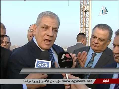 تقرير محلب يتفقد مشروع المتحف المصرى الكبير ويتابع اعماله الانشائية