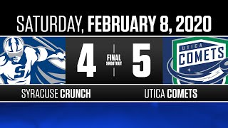 Crunch vs. Comets | Feb. 8, 2020