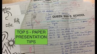 TOP 5 MOST COMMON PAPER PRESENTATION TIPS