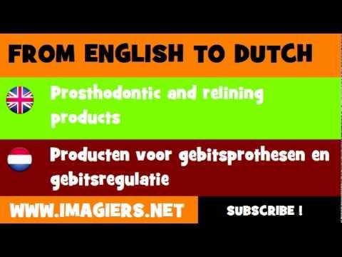 NEDERLANDS = ENGELS = Producten voor gebitsprothesen en gebitsregulatie