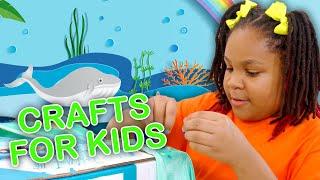3 Fun DIY Art Class Crafts for Kids! 🎭🎨 | Big Fun Crafty Show | Universal Kids