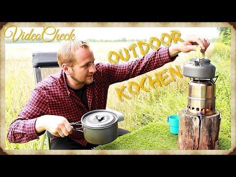 🔴OUTDOOR KÜCHE Kochgeschirr im Test : Review kochen auf dem Holzvergaser