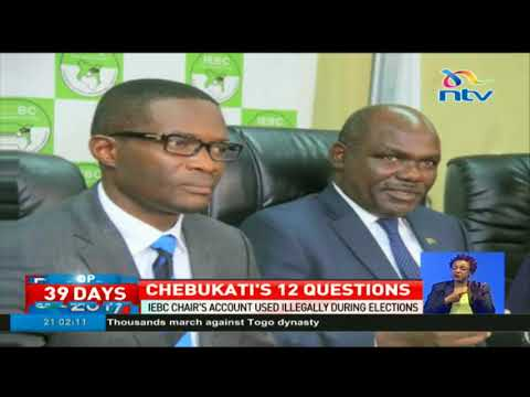 IEBC chairman Wafula Chebukati's 12 searing questions to CEO Chiloba