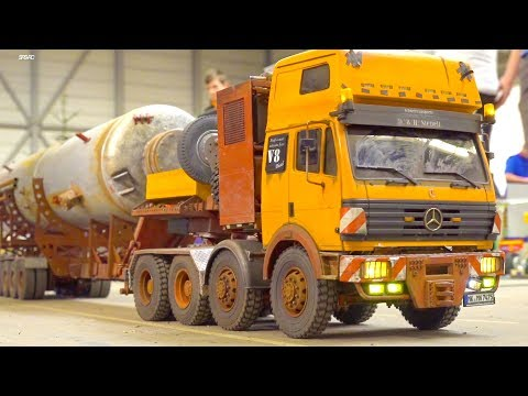 DECAY OLD & RUSTY HEAVY HAULAGE RC TRUCK! INCREDIBLE DETAILED MERCEDES BENZ!
