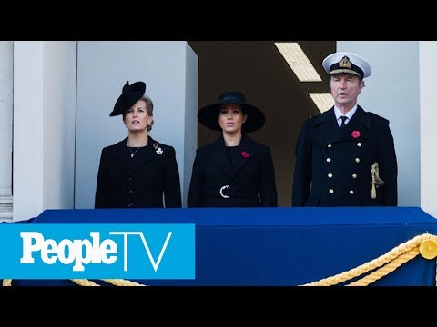 Why Meghan Markle Didn't Stand With The Queen, Kate & Camilla At The Remembrance Ceremony   PeopleTV