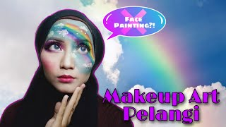 Tutorial Makeup Pelangi Dan Awan Gampang Banget | Makeup Art Tanpa Face Painting | Julie Rahayu
