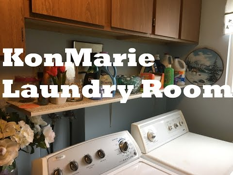 KonMarie Organizing the Laundry Room
