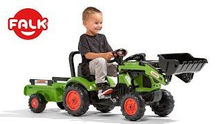 """Детский Трактор на педалях с прицепом Smoby CLAAS XL от компании Интернет-магазин """"Timatoma"""" - видео"""