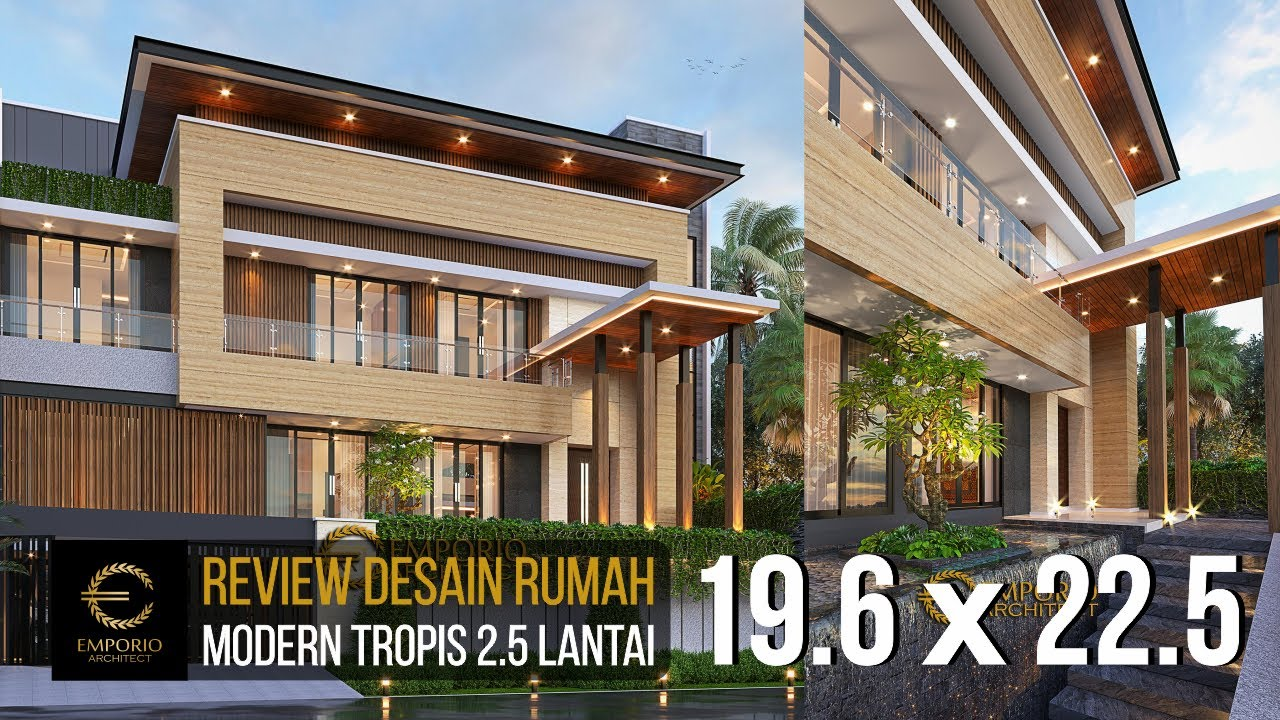 Video 3D Mr. Syoffa Modern House 2.5 Floors Design - Jakarta Timur