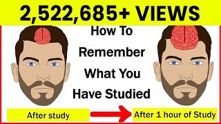 How to Remember what you study? | How to Increase your Memory Power? | Study Tips | Letstute