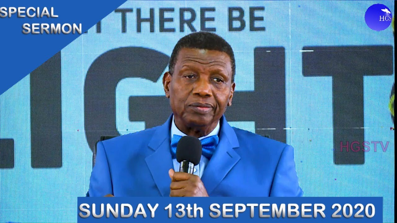 RCCG Sunday Service 13th September 2020 by Pastor E. A. Adeboye - Livestream